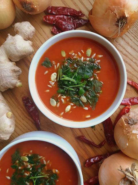 Zupa pomidorowa po indyjsku / Indian Style Tomato Soup