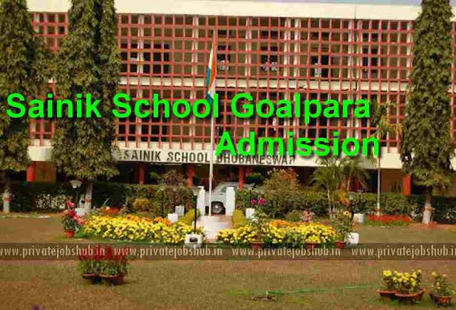 Sainik School Goalpara Admission 2018-19 Entrance Exam Application Form