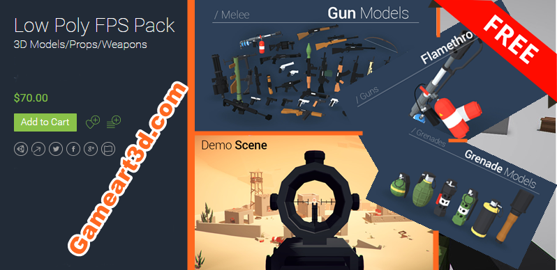 Low Poly FPS Pack Unity Assets - Game Art 3D