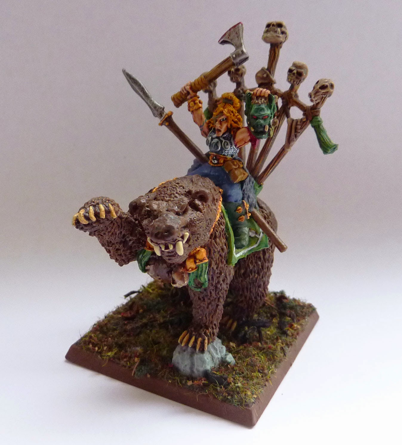 Wood Elf Great Stag conversion, using Tsar Boris of Kislev's Bear