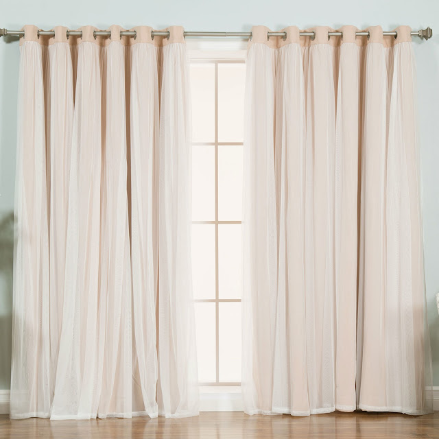 wayfarer pink tulle curtains