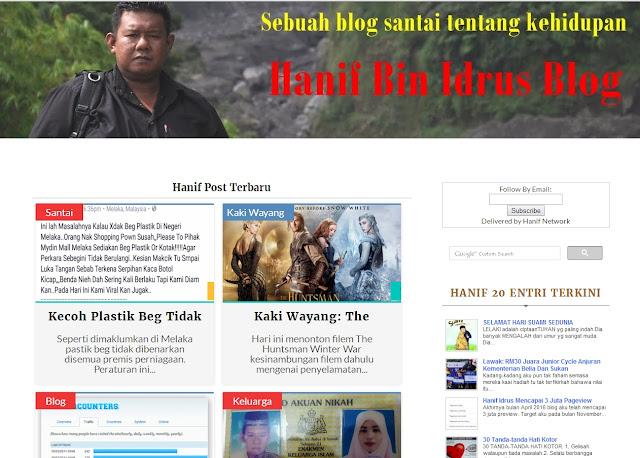 Hanif Bin Idrus New Templates Responsif 2016