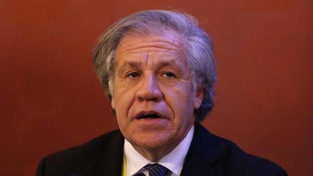 Almagro pidió apoyo internacional para el presidente encargado de Venezuela Juan Guaidó.