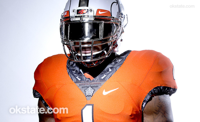 Oklahoma State orange jersey uniform