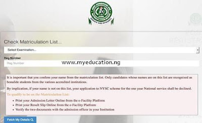 How to Check Matric Number on JAMB Matriculation List