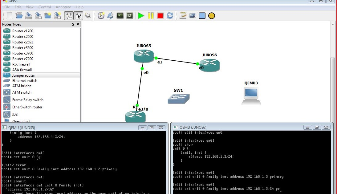 Junos image for Gns3