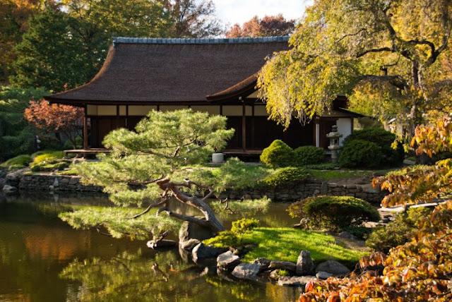 Rumah dan Kebun Shofuso Jepang, West Fairmount Park, Philadelphia, Amerika Serikat