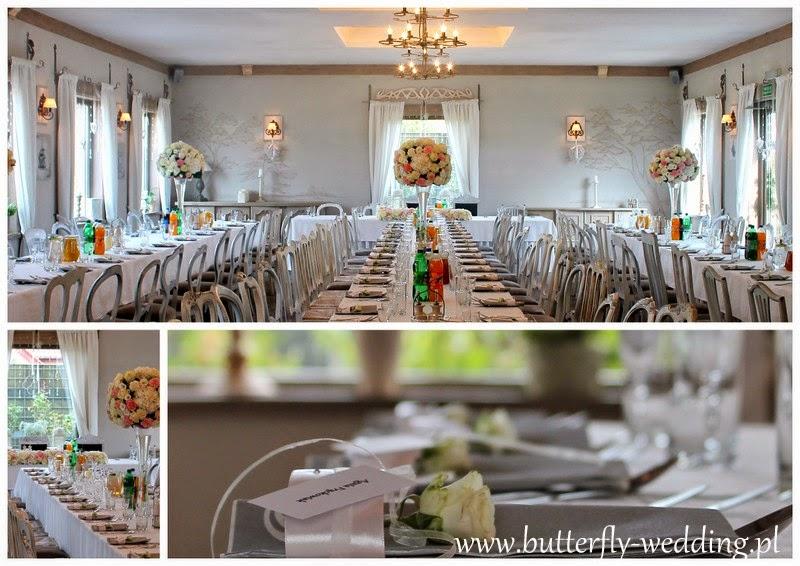 dekoracja stołu weselnego duże bukiety