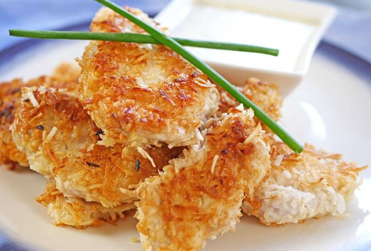 Paleo Coconut Chicken #diet #paleo