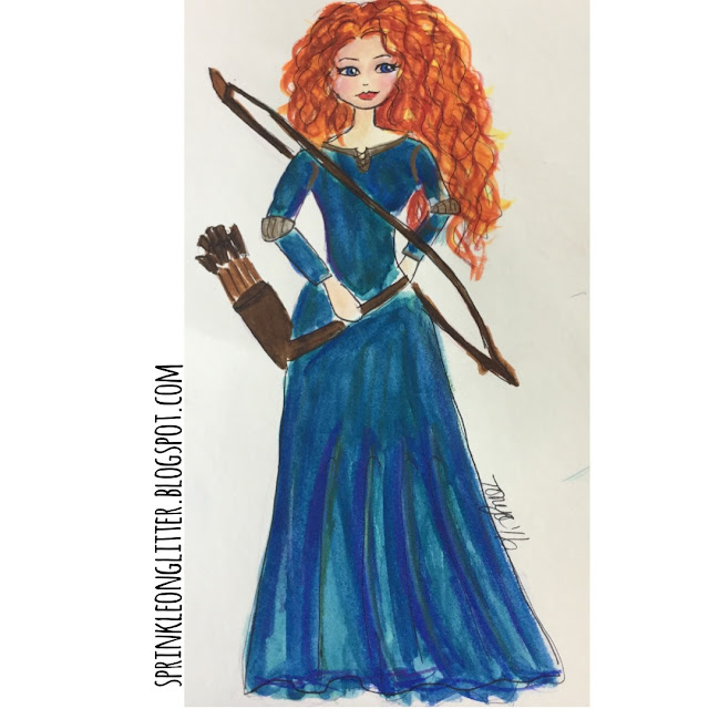 Sprinkle On Glitter Blog// Disney Princess//Merida