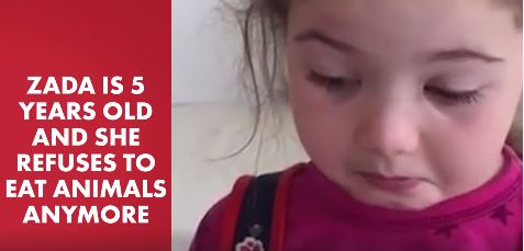 This Li'l Girl refuses to eat Meat and her words will make you Think for a while
