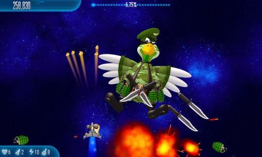 احدث اصدار العبة المسلية Chicken Invaders 5 Cluck of the Dark
