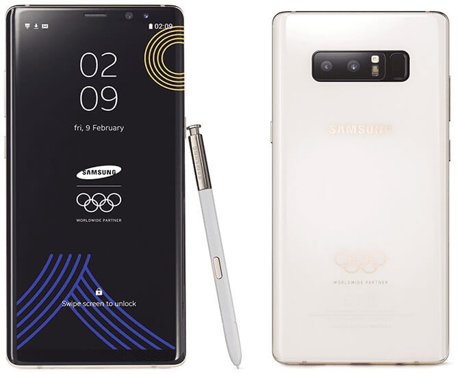 Samsung Unveils PyeongChang 2018 Winter Olympic Edition Galaxy Note 8