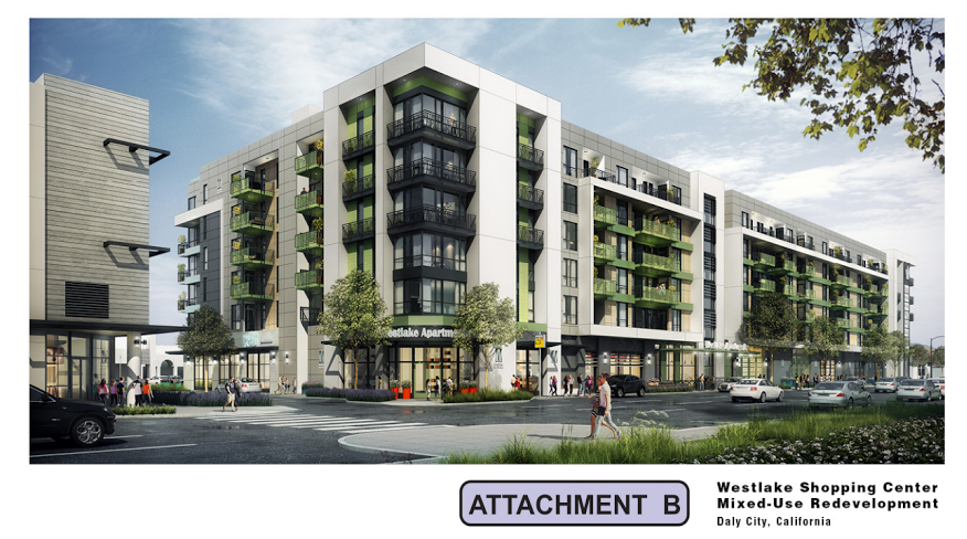 ... Kimco Reality Corporation, Has Submitted An Application To Redevelop A  Portion Of Westlake Shopping Center Adjacent To Park Plaza Drive The  Project ...
