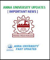 Anna University UG 1st Semester (Odd Semester) Re-opening Date for Academic year 2016-2017