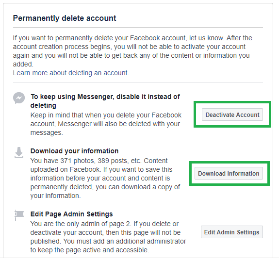 how to deactivate facebook account : Delete Your Facebook Account