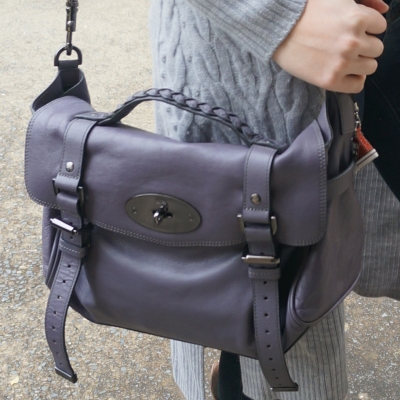 Mulberry regular Alexa bag in foggy grey | AwayFromTheBlue blogger