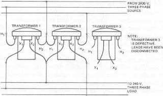 open delta transformer,open delta connection , how to connect open-delta transformer