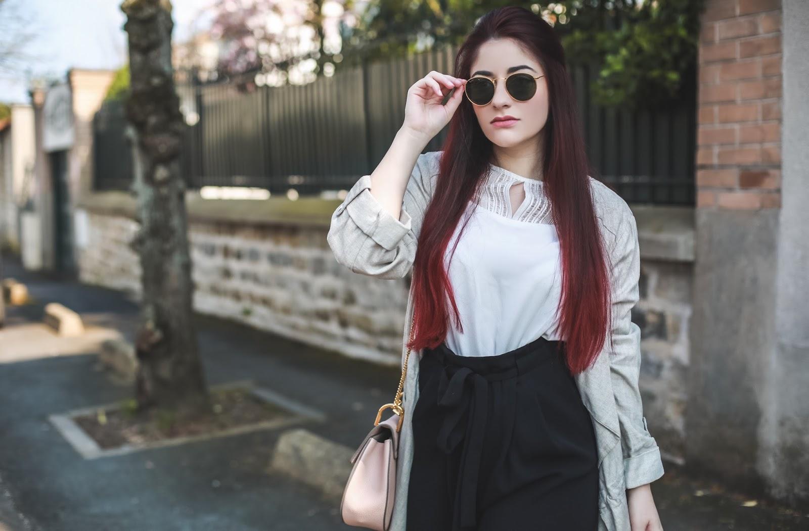 pantalon taille haute oversize blog mode