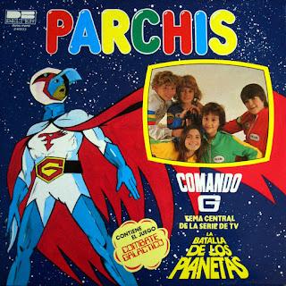 Portada del álbum de Comando G (La batalla de los planetas) de Parchís