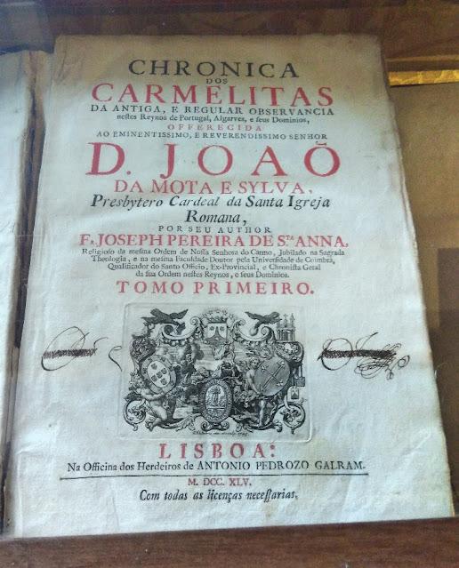 Publicações antigas da Ordem do Carmo