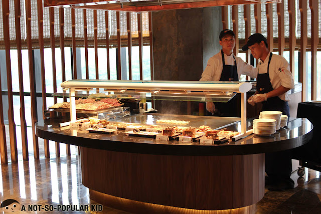 Grilling Station of Nobu Restaurant