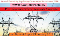 Central Electricity Regulatory Commission Recruitment 2018 – Research Officer, Research Associate