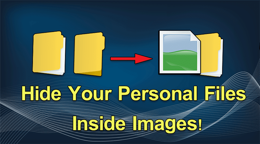 Hide Your Personal Files inside images