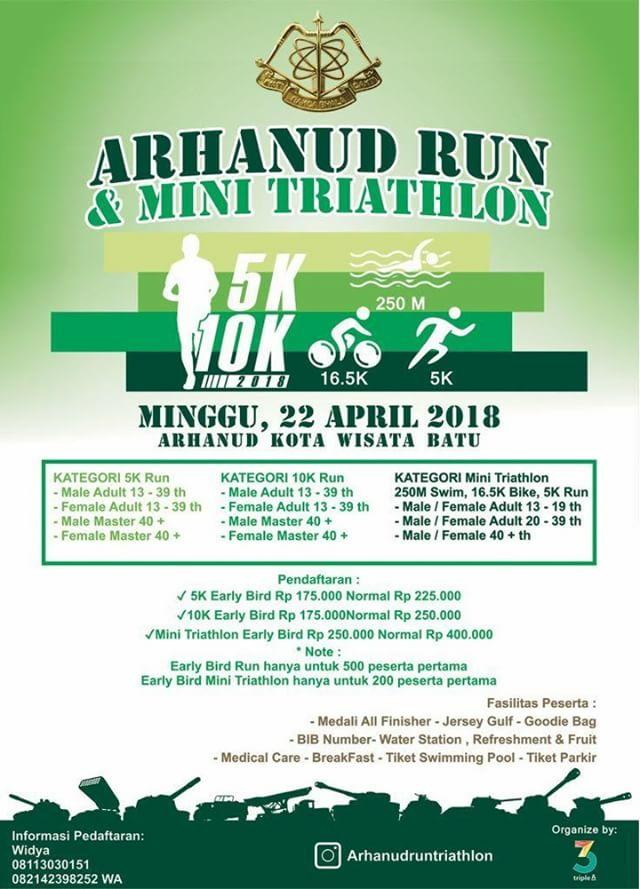 Arhanud Run & Mini Triathlon • 2018