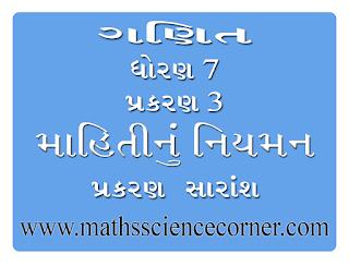 Maths Std 7 Ch 03 Prakaran Saransh