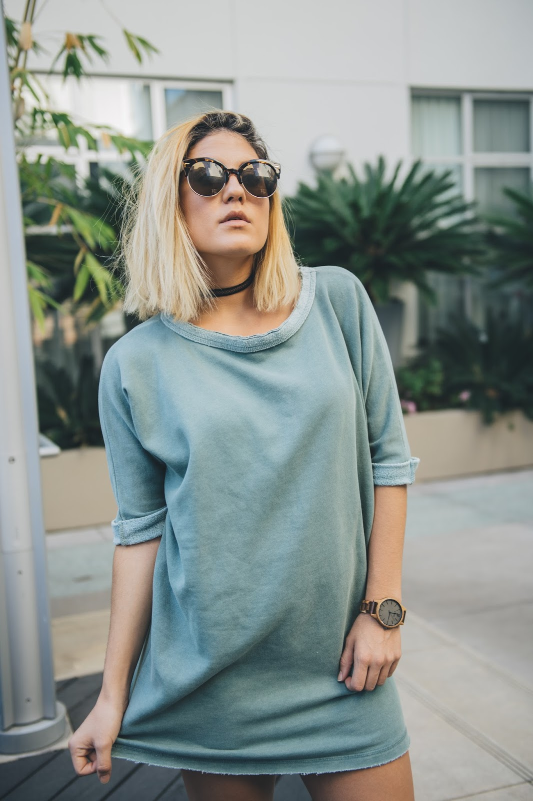 Silence + Noise Sweatshirt Dress - Taylor Winkelmeyer