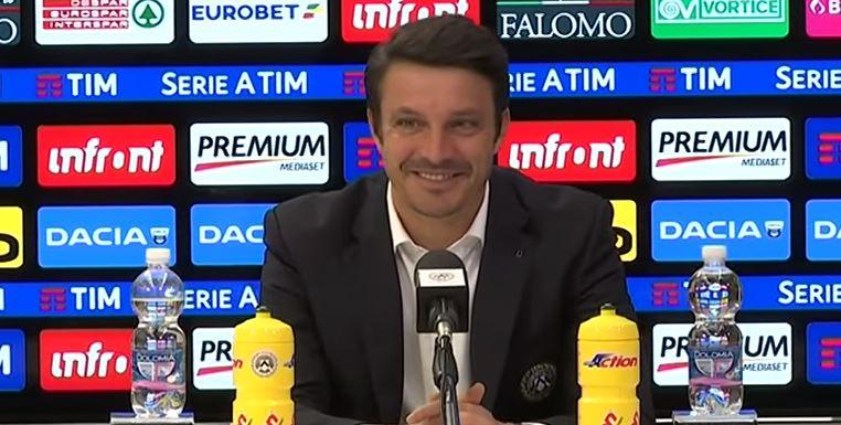 Massimo Oddo parla in conferenza stampa alla vigilia di Napoli Udinese: