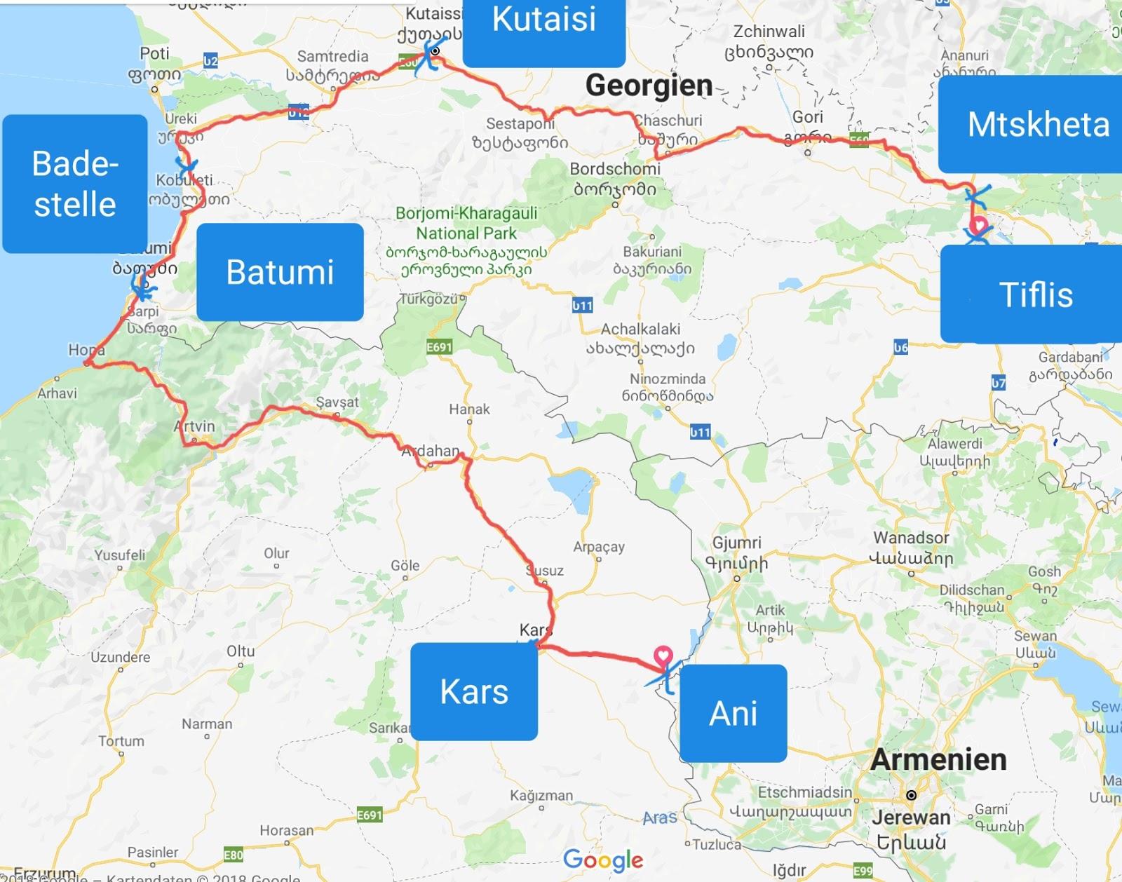 18 25 Tiflis Kutaisi Batumi Kars Alte Armenische Hauptstadt Ani