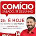 Neste Sábado (17) 1º Grande Comício do 14 Hélio e Dr. Silvano