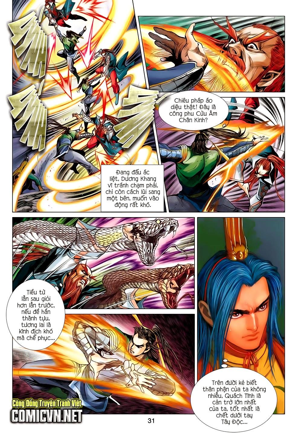 Anh Hùng Xạ Điêu anh hùng xạ đêu chap 56: tuyệt tình vô nghĩa lãnh huyết ác niệm trang 31