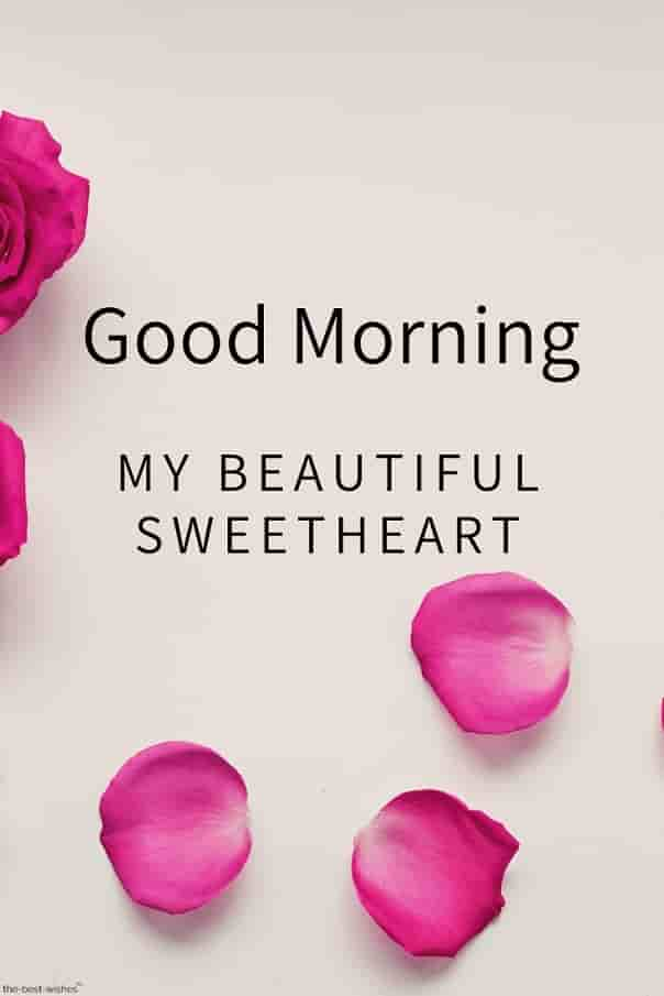 good morning my beautiful sweetheart hd image