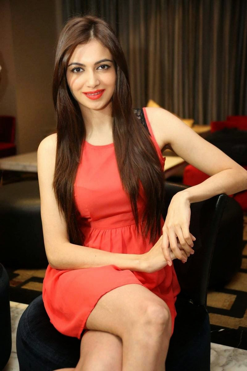 Telugu Actress Simran Kaur Mundi, Simran Kaur Mundi Long Legs hot Pics in Red short Dress & Boots