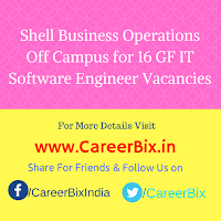 Shell Business Operations Off Campus for 16 GF IT Software Engineer Vacancies
