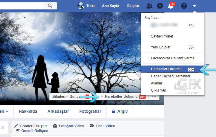 Facebook Hareketleri Nasıl Kontrol Edilir?- www.ceofix.com