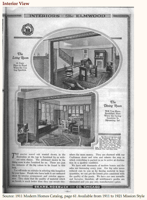 Sears Elmwood interior 1911 catalog Sears Modern Homes from Arts & Crafts Society website