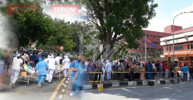 Allah Allah Allah! Tepat 24Jam Selepas Terbakarnya Hospital Sutanah Aminah Semalam Kini Terbakar Lagi, Hari Ini Bilik Pembedahan Pula Terbakar! Allahu Akbar!! Selamat Kan Pesakit Disini!!