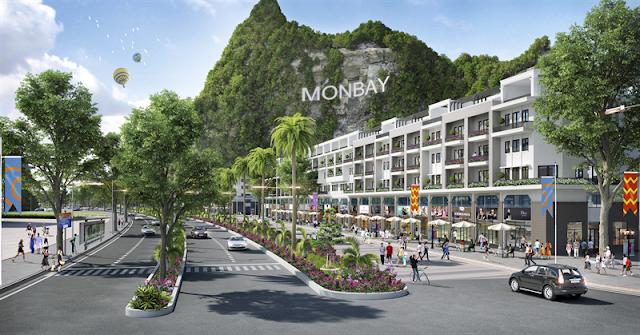 Phối cảnh phố thương mại Mon Bay Hạ Long
