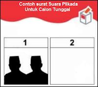 Contoh surat suara untuk Pilkada paslon tunggal Enrekang 2018