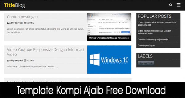 Kompiup dates  free Download blogger template