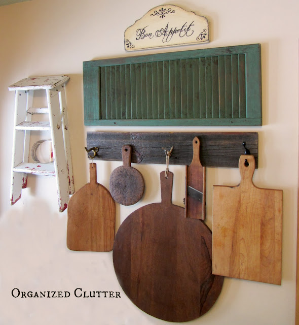 Thrift Shop Cutting Board Re-Purpose/Up-Cycles organizedclutter.net