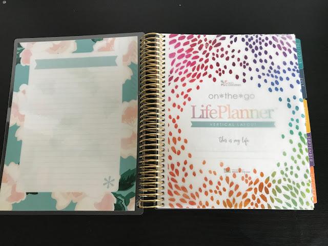Opened Erin Condren Life Planner