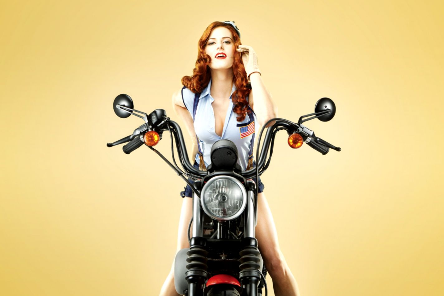Pin Up Harley Davidson Wallpaper
