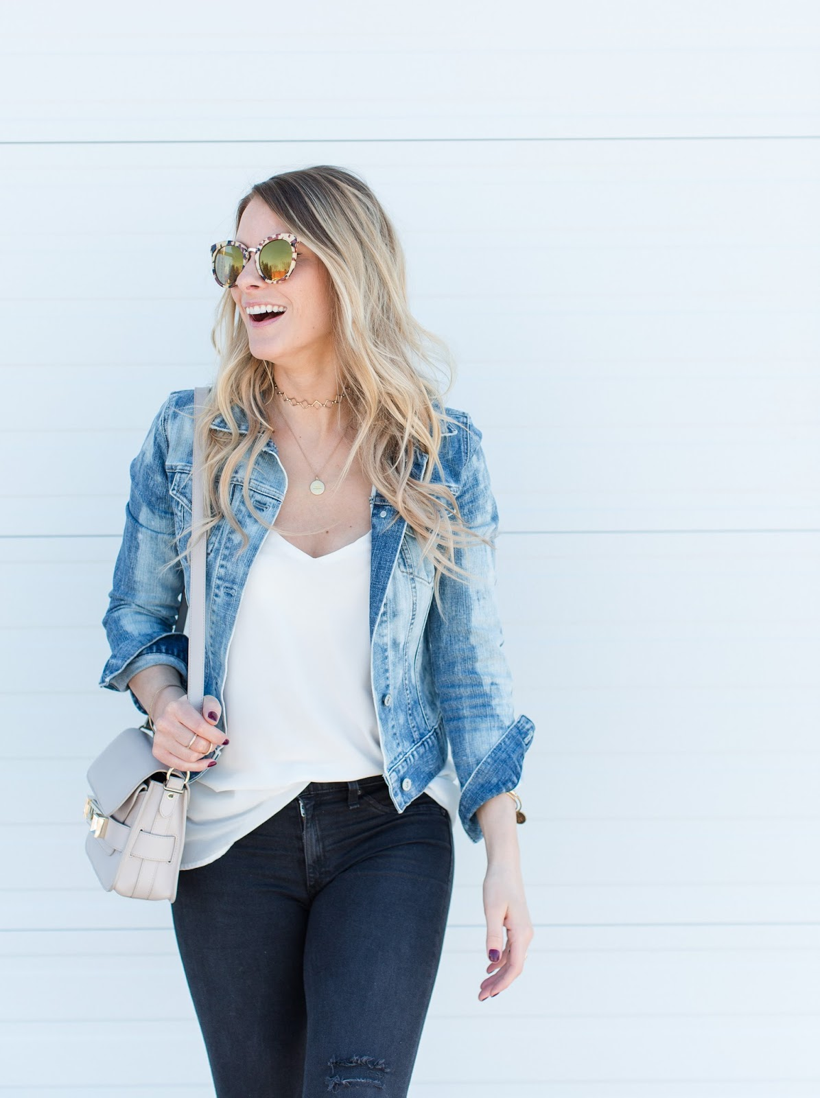 Bleached Denim Jacket Wrap Up Block Heels Life With A Co By