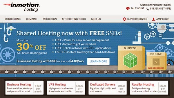 Review : Web Hosting InMotion