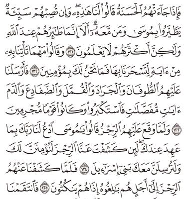 Tafsir Surat Al-A'raf Ayat 131, 132, 133, 134, 135